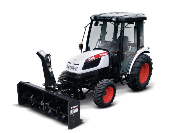Compact Tractor Seeder : Bobcat front compact tractor snowblower seeder service